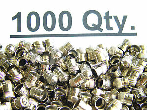 1000 Xtra Seal Brass Metal Chrome Valve Caps Tire Valve Stem Caps Schrader Brand