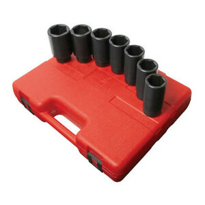 Sunex Tools Deep Spindle Axle Nut Socket Set 7pc 1 2 In Dr 2839