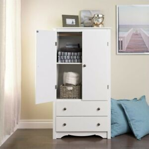 Prepac Monterey White Tv Wardrobe Armoire