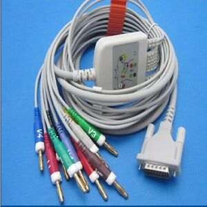 Schiller 10 Leads Medical Ecg Ekg Cable Aha With Banana 4 0 Without Resistor