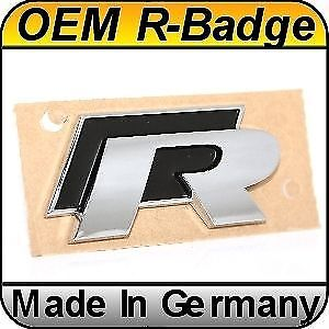 Original Vw Golf R line Emblem Racing Badge Rear Scirocco Passat Genuine Oem