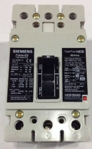 Heb3b030b Siemens Circuit Breaker 3 Pole 30 Amp 480 Volt Type Heb new In Box