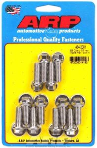Arp 434 2001 Sbc Chevy Intake Stainless Bolt Set Bolts 350 383