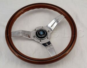 Nardi Steering Wheel Deep Dish Corn 330 Mm Mahogany Wood Polished Classic Horn