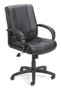 Lot Of 8 Black Caresoft Conference Room Table Office Chairs