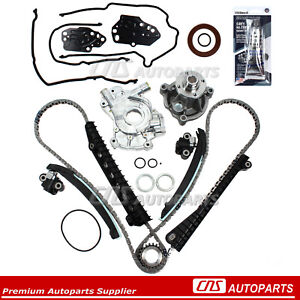 Timing Chain Kit Oil Water Pump Cover Gasket For 04 08 Ford F150 Lincoln 5 4l 3v