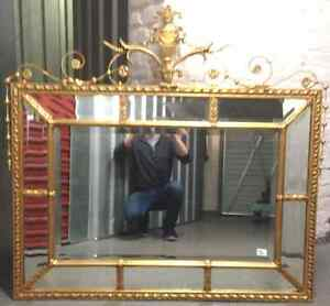 Beautiful Louis Xv Style Giltwood Neoclassical Gold Mirror Early 20th C