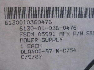 Us Military Supply Power Supply Frost Magnetics Aerospace Parts New