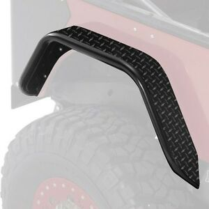 Warrior Rear Pair Tube Flares Black Diamond Plate 97 06 Jeep Wrangler Tj Lj