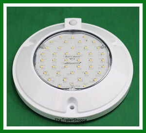 Interior Dome Light 42 Led White Surface Mount 6 Round 900 Lumens Pir Sensor