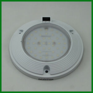 Interior Dome Light White Surface Mount 6 Round 1 200 Lumens 3 Position Switch