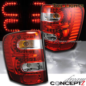 For 99 04 Jeep Grand Cherokee Led Tail Lights Red Clear Laredo Limited Overland