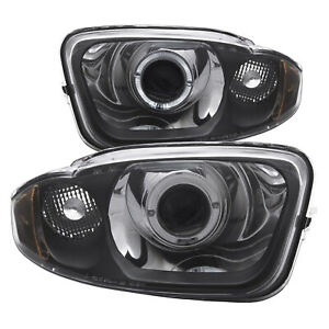 Anzo 121438 Set Of 2 Chrome Halo Projector Headlights For 03 05 Chevy Cavalier