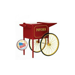Paragon Popcorn Push Cart Medium Red Merchandiser Concession Snack Stand 3070010