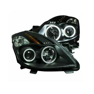 Anzo 121395 Set Of 2 Black Ccfl Halo Projector Headlights For Nissan Altima 2dr