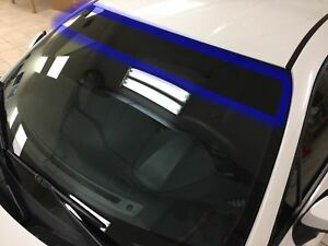 Universal Pre Cut Sun Strip Tint Film Visor For Front Windshield 5 Limo Shade B
