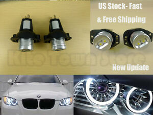 2x 6w High Power Angel Eyes 3 Series Led Lring Bulbs White Halo For Bmw E90 E91
