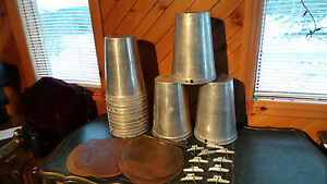 Lot Of 22 Maple Syrup Sap Buckets 22 Lids Covers 22 Taps Spouts Spiles