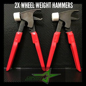 2 Forged Wheel Weight Hammer Pliers Combo 4 Tire Balancer Changer Usa Grade