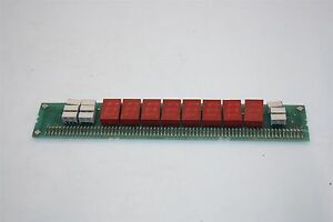 Lot Of 7x Hp 1990 0540 Miniature Display 7 Segment Red 11 Pins Soldered On Pcb