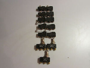 Micro Switch Bz 2rw8 Roller Lever Switch Lot Of 13 Various Models