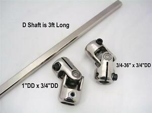 Stainless Steering Kit 1 Column Joint Mustang Ii Power Rack Ujoint With Shaft