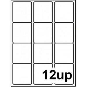 1000 12 Up Per Page Sheet Printer Labels A4 Address Label Self Adhesive Sticky