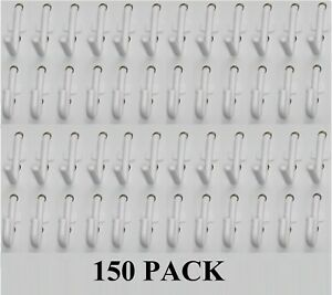 Plastic White J L Style Pegboard Hooks Kit 150 Pack Pegboard Not Included