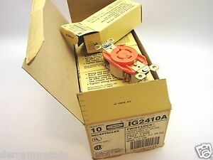 Box 10 Hubbell Ig2410 L14 20r Iso Gnd Locking Receptacle Outlet 20a 125 250v