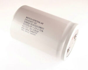 1x 30000uf 60v Large Can Electrolytic Aluminum Capacitor 30000mfd 60vdc 30 000