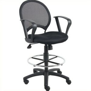 Boss Office Mesh Drafting Chair With Loop Arms