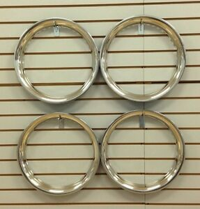 16 New Stainless Steel Beauty Rings Trim Ring Set Of 4