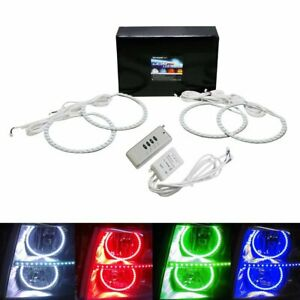 Wireless Rgb 7 Color Led Angel Eyes Halo Rings Kit For 07 14 Gmc Chevy Truck Suv