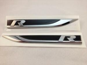 Oem Vw Volkswagen Golf R Mk 7 Vii Car Wing Right And Left Side Badge Emblem