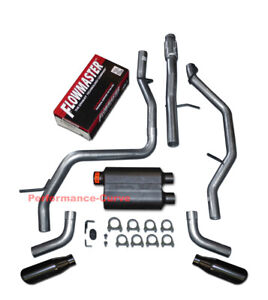 2009 2014 Avalanche Yukon Xl Suburban Dual Exhaust Kit With Flowmaster Super 44