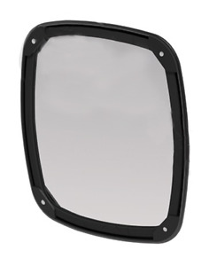 Convex Black Mirror Head Heated Universal Fit 8 X 8 5
