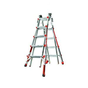 Little Giant 12022 801 19 foot Ladder With Ratcheting Levelers 300lb Capacity