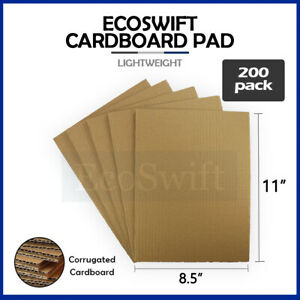 200 8 5x11 Corrugated Cardboard Pads Inserts Sheet 32 Ect 1 8 Thick 8 1 2 X 11