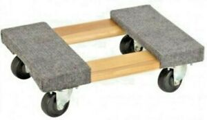 Hardwood Movers Dolly 1000lb 1 2 Ton Carpeted 12 25 X 18 Moving Furniture Cart