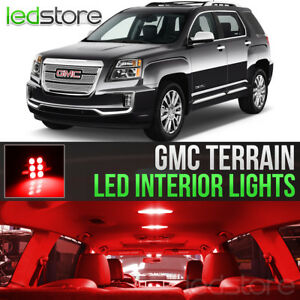 2010 2017 Gmc Terrain Red Interior Led Lights Kit Package