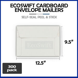 300 12 5 X 9 5 Self Seal White Photo Ship Flats Cardboard Envelope Mailers