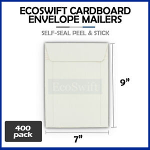 400 7 X 9 White Cd dvd Photo Ship Flats Cardboard Envelope Mailer Mailers