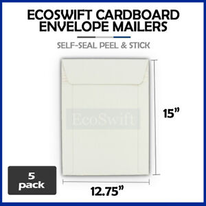 5 12 75 X 15 Self Seal White Photo Shipping Flats Cardboard Envelope Mailers