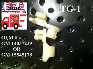 1981 1998 Chevy C K C1500 C2500 C3500 Silverado Tailgate Handle Rod Clips Tg1