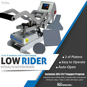 Stahls New Hotronix 6 X 6 Low Rider Auto Clam Heat Press Free Fedex Shipping