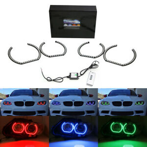 Dtm Style Horseshoe Rgb Multi Color Led Angel Eyes Halo Rings For Bmw Headlights