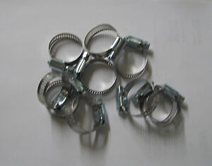 Stainless Steel Band Hose Clamp 3 4 1 1 2 Amgauge 16 Clamps 10 Pieces