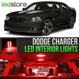 2011 2014 Dodge Charger Red Interior Led Lights Kit Package