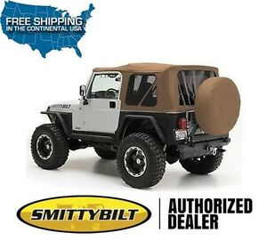 Smittybilt Replacement Soft Top W Tinted Windows Spice 97 06 Jeep Wrangler Tj