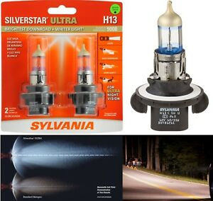 Sylvania Silverstar Ultra 9008 H13 65 55w Two Bulbs Head Light Dual Beam High Lo